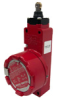 GSX Series, Explosion-Proof Safety Switch, 20 mm housing, 2NC/1NO top roller plunger -- GSXC42C