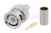 BNC Male Connector Crimp/Crimp Attachment for RG58, RG303, RG141, PE-C195, PE-P195, LMR-195, 0.195 inch -- PE4016 -Image