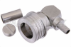 QN Male Right Angle Connector Crimp/Solder Attachment for RG55, RG141, RG142, RG223, RG400, IP68 -- PE44600