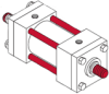 Series MH - ISO Metric Hydraulic Cylinder -- Double Rod End