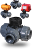 3-Way Diverter Ball Valve -- PTP Series - Image