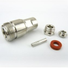 N Female Connector Clamp/Solder Attachment For RG55, RG58 Cable -- SC9302 -- View Larger Image