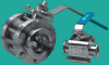 High Vacuum Ball Valve -- Manual, SST Body, ISO-QF or LF Ports