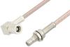 SMB Plug Right Angle to SMB Jack Bulkhead Cable 24 Inch Length Using RG316 Coax -- PE33675-24 -Image