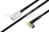 MIL-DTL-17 N Female to SMA Male Right Angle Cable 200 cm Length Using M17/84-RG223 Coax -- PE3M0046-200CM -Image