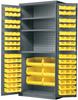 Cabinet, AkroBin Cabinet 3 Shelves w/102 AkroBins -- AC3624Y3AS -Image