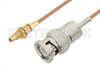 BNC Male to SSMC Jack Bulkhead Cable 12 Inch Length Using RG178 Coax -- PE3C4398-12 -Image