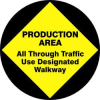Floor Sign,17In,Production Area -- 8GKE5