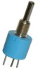 392 Series Industrial Potentiometer, Conductive Plastic Element, PC Terminals, 0.5 W Power Rating, 250 Ohm Resistance Value -- 392JB250