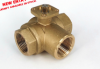 Brass Ball Valve -- s. 7341 3 Way - 4 Seats valve