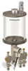 "Levelux Clear View Multiple Feed Electro Lubricator, 1 qt Pyrex Reservoir, 3 Feeds, 1/4"" OD Tube Outlets, 120V/60Hz -- B5177-032PB0312061W"