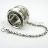 7/16 DIN Female Open Circuit Connector Cap With 4.72 Inch Chain -- SC2081 -Image