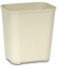 Rubbermaid® Fire Resistant Wastebasket - 28 Qt., Beige -- 2543BE