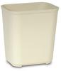 Rubbermaid® Fire Resistant Wastebasket - 28 Qt., Beige -- 2543BE