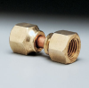 Connector, swivel nut, brass, 1/2