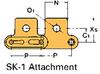 Double Pitch Conveyor Lambda Chain Attachment -- C2040-LAMBDA-SK-1 - Image