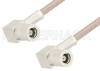 SMB Plug Right Angle to SMB Plug Right Angle Cable 24 Inch Length Using RG316 Coax, RoHS -- PE3917LF-24 -Image