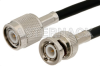 TNC Male to BNC Male Cable 12 Inch Length Using RG58 Coax -- PE3497-12 -Image