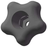 Snap Lock Star Knob,1 3/4 In,Thru,1/4 -- 3GER2 - Image