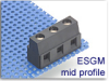 Power I/O Fixed Terminal Block -- ESGM Mid Profile Series -- View Larger Image