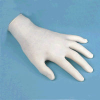 Large, Powdered Disposable Latex Gloves -- 69189