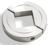 Square Two Piece Stainless Steel Clamp-Type Collars -- 15S112