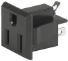 NEMA line Outlet 5-15R, Snap-in Mounting, Front Side, Solder Terminal -- 0709 -- View Larger Image