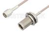 SMA Male to N Female Bulkhead Cable 18 Inch Length Using RG316 Coax, RoHS -- PE33555LF-18 -Image
