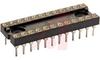 Socket, DIP;Closed;4-Finger;24 Pos.;0.100In.cen.;Solder;0.6In.;30muIn. Gold;0.12 -- 70206590 - Image