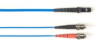 1-m, ST-MTRJ, 50-Micron, Multimode, Plenum, Blue Fiber Optic Cable -- FOCMP50-001M-STMT-BL
