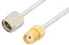 SMA Male to SMA Female Cable 12 Inch Length Using PE-SR405FL Coax, RoHS -- PE3651LF-12 -Image