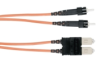 Ceramic Terminated 62.5-Micron Multimode GSA Fiber Optic Cable, ST-SC, Duplex Riser, 5-m (16.4-ft.) -- EFN4010-005M - Image