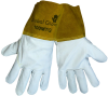 Global Glove White XL Grain Pigskin Kevlar/Leather Welding Glove - Wing Thumb - 100MT XL -- 100MT XL