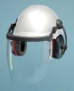 Hard Hat Component Kit w/ Earmuffs,White -- 3NMZ1
