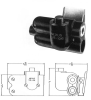 Telephone Jack Switch Biaxial Shielded -- TJS-106