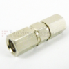 SMC Plug to SMC Plug Adapter, Nickel Plated Brass Body, 1.2 VSWR -- SM2020 - Image