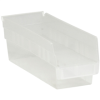 "11 5/8"" x 4 1/8"" x 4"" Clear - Plastic Shelf Bin Boxes -- BINPS101CL -- View Larger Image"