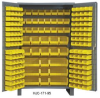 HEAVY DUTY ALL-WELDED BIN & SHELF 14 GA. STEEL STORAGE CABINETS -- H3501-BDLP-102-3S-95 - Image
