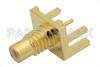 SMC Jack Connector Solder Attachment 0.062 inch End Launch PCB, .030 inch Diameter -- PE44130 -Image