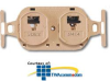 Suttle 8/8 Conductor, Non-Keyed/Keyed, 110-IDC Terminals,.. -- 106BFDY