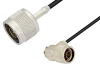N Male to N Male Right Angle Cable 60 Inch Length Using PE-C100-LSZH Coax -- PE38934-60 -Image