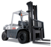 Heavyweight Pneumatic Tire Forklift, Nissan Forklift -- Platinum GO4 IC Series