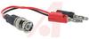 Banana Plug; Stackable Double Banana Plug Gold Kelvin Clip; Brass; 105 degC; PV -- 70188667
