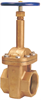 Gate Valve – Bronze, Rising Stem, Bolted Bonnet, Threaded -- T-134 Large Diameter