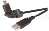 Flex USB Cable - Rotating USB Mini B5 Male / Standard USB A Male, 6ft -- CAFLEX MB5M-AM-6