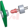 Spacer, LED; 0.21 in. (Clip), 0.14 in. (Ring); Nylon 6/6; T-1 Series LED -- 70208735 - Image