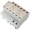 AC Surge Protector SPD I2R-T125 DIN-Rail 230 Vac 3-Phase Wye MOV 100 kA, IEC 61643-11 Class I+II, CE, RoHS -- I2R-T125-3P230 -Image