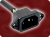 IEC-60320-C14 SCREW-ON INLET to IEC-60320-C13 + IEC-60320-C7 HOME • Power Cords • Server Cords • C14 To C13 Power Cords -- 0225.036 -Image