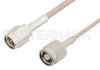 SMA Male to Reverse Polarity TNC Male Cable 12 Inch Length Using RG316 Coax -- PE34396-12 -Image