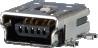 Horizontal USB B Modular Jack -- AJS08g5513-001 - Image